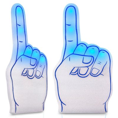 Number One Foam Light Up Finger Blue All Products