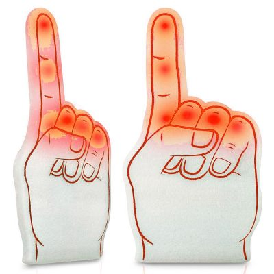 Number One Foam Light Up Finger Red All Products