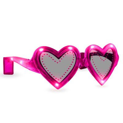Pink Heart LED Sunglasses Pink
