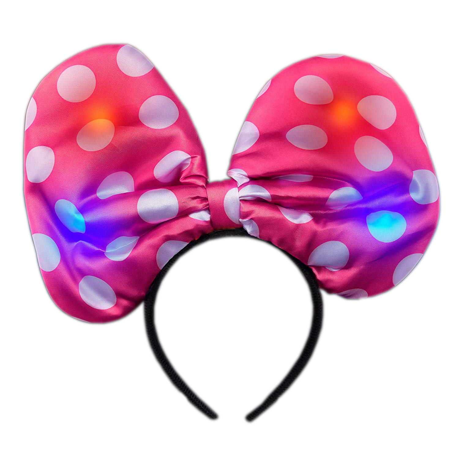 Light Up Soft Bow Headband Pink All Products