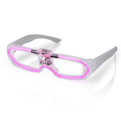 Sound Activated Glasses Pink Pink