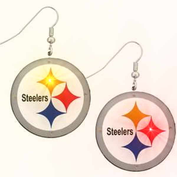 Pittsburgh Steelers Pierced Flashing Earrings Magic Matt S Brilliant Blinkys