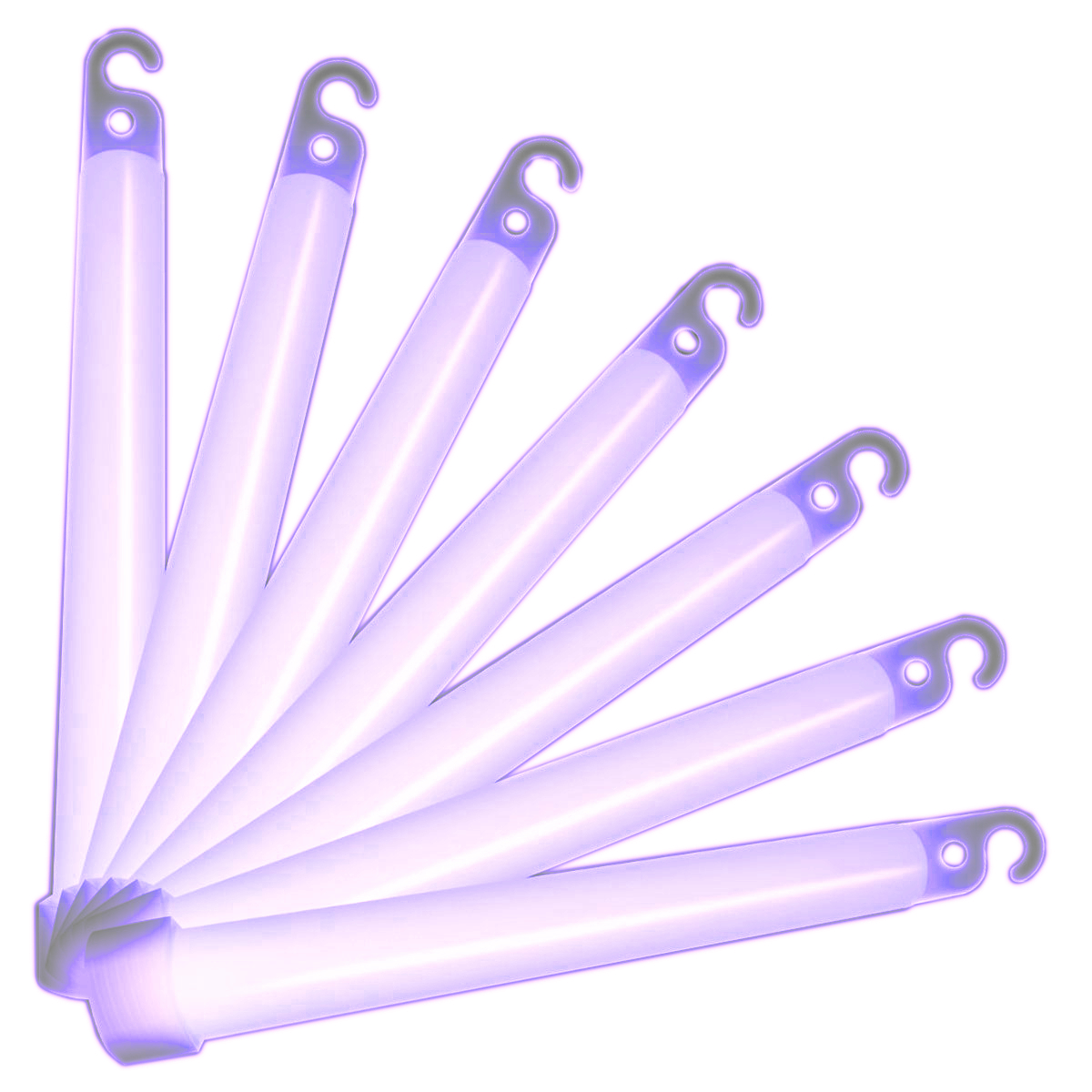 5 Minute High Intensity 6 Inch Glow Sticks Pack of 10 Purple All Products