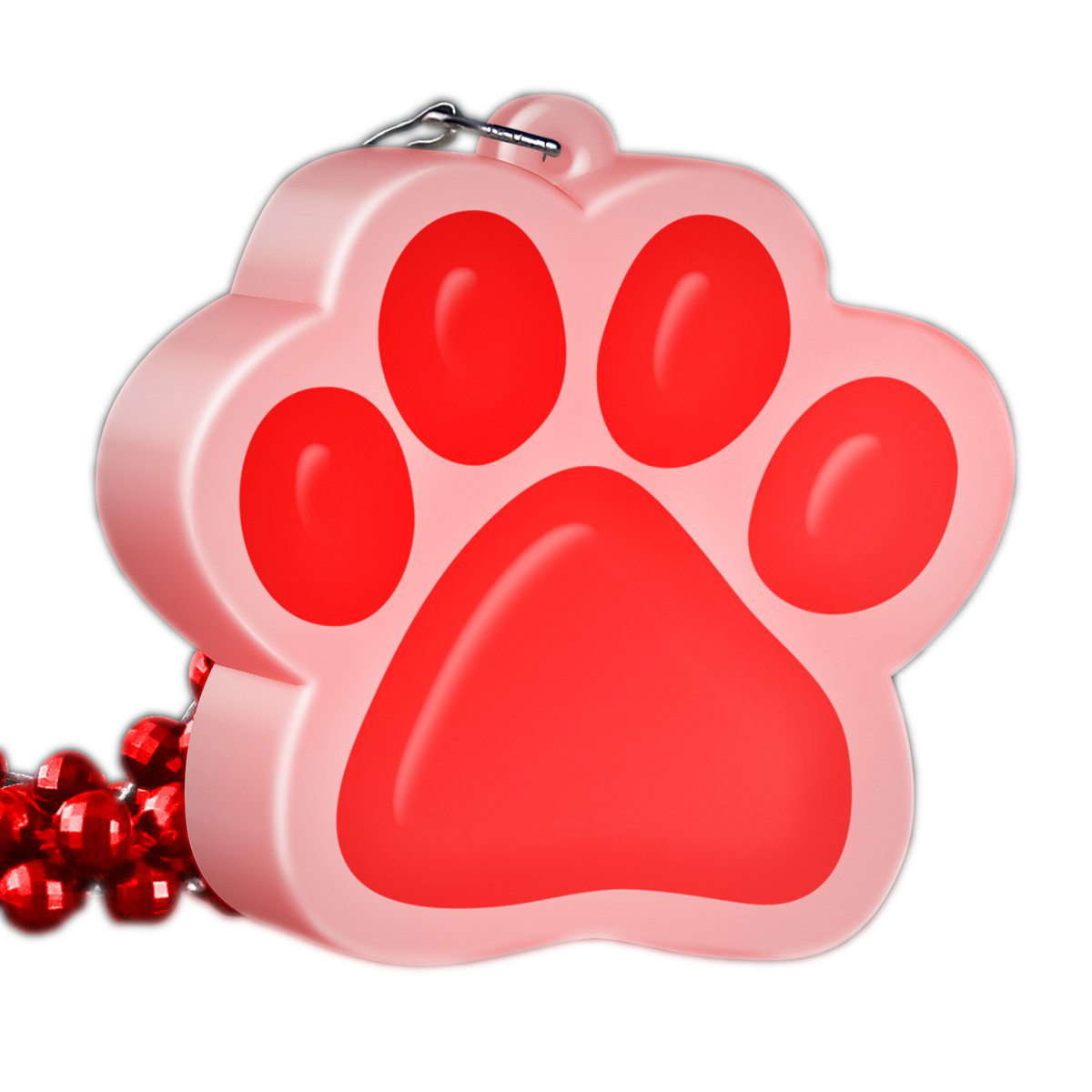 Light Up Red Paw Print Charm Necklace All Products