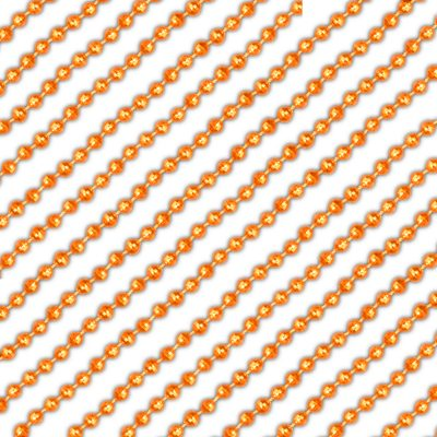 Round Disco Bead Necklace Pack of 12 Orange All Products