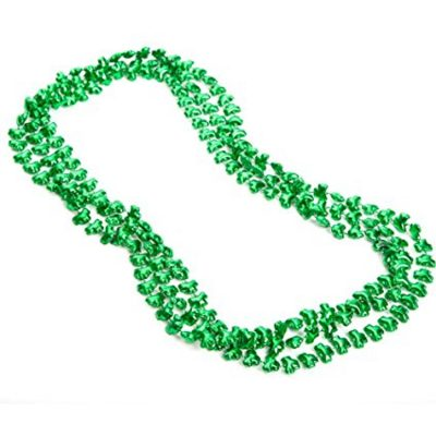 Shamrock Beaded Necklaces Pack of 12 Beads