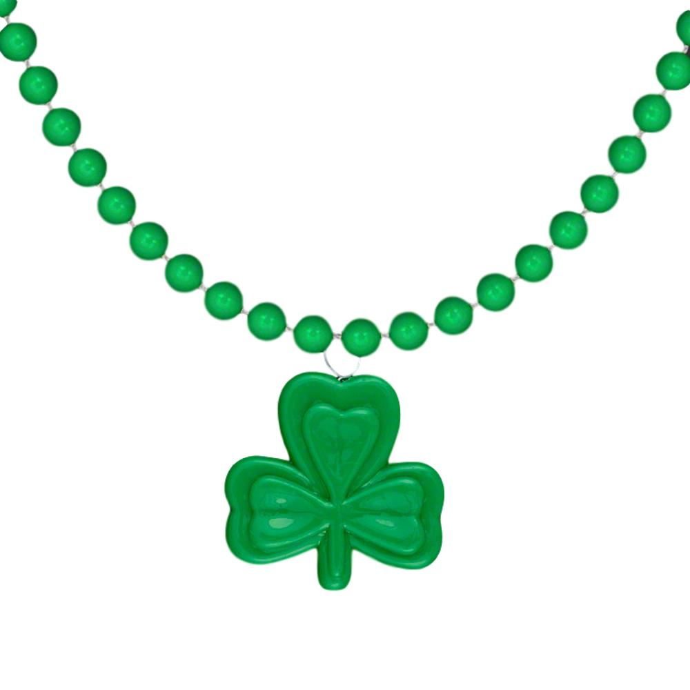 Shamrock Beaded Charm Necklace Pack of 12 All Products