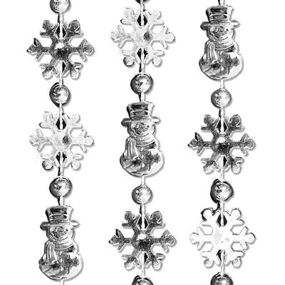 Snowmen Snowflake Bead Necklace Pack of 12 All Products