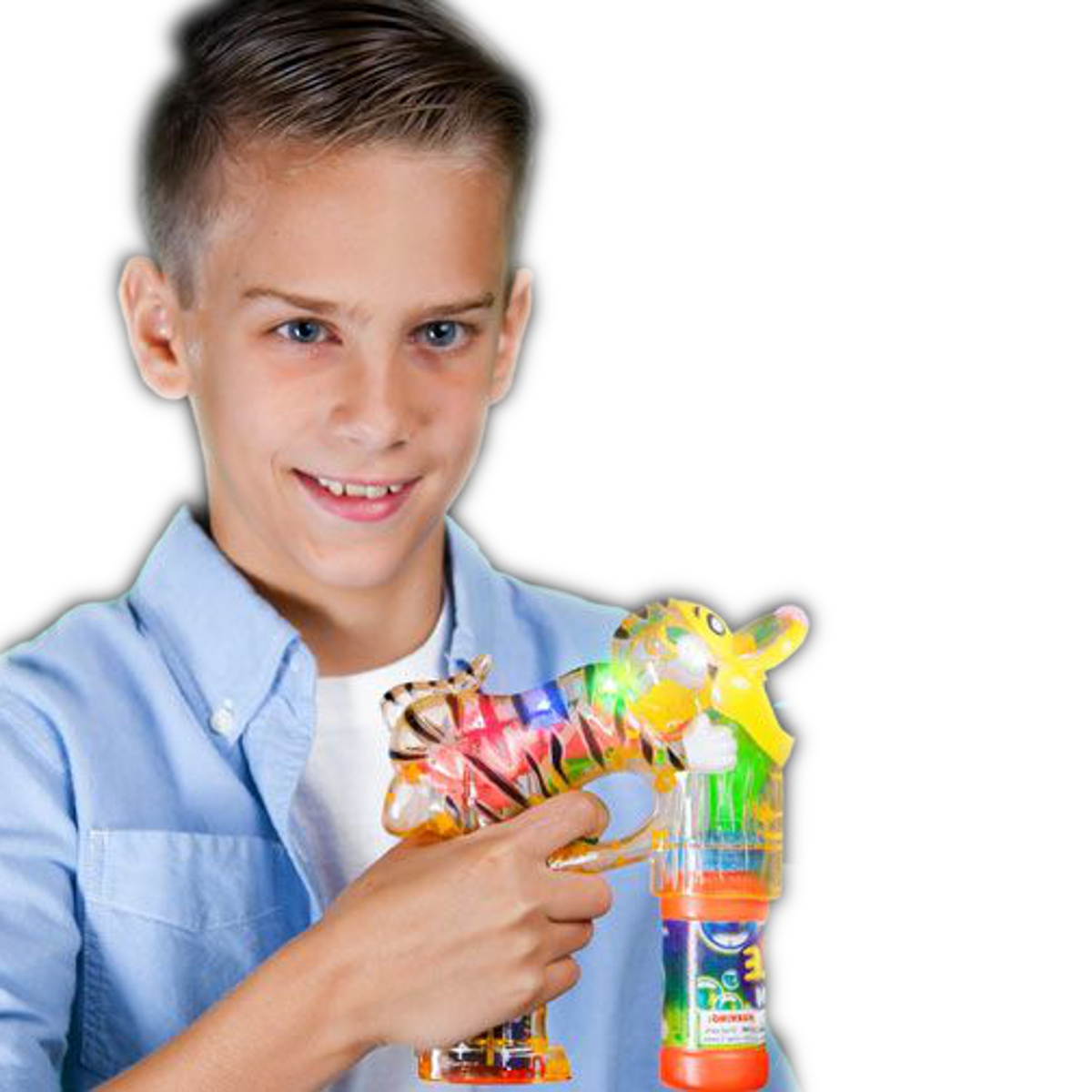 Light Up Terrific Tiger Bubble Gun All Products