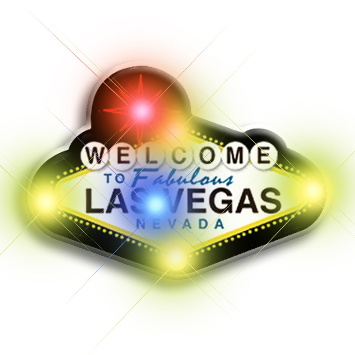 Welcome to Vegas Flashing Body Light Lapel Pins All Body Lights and Blinkees