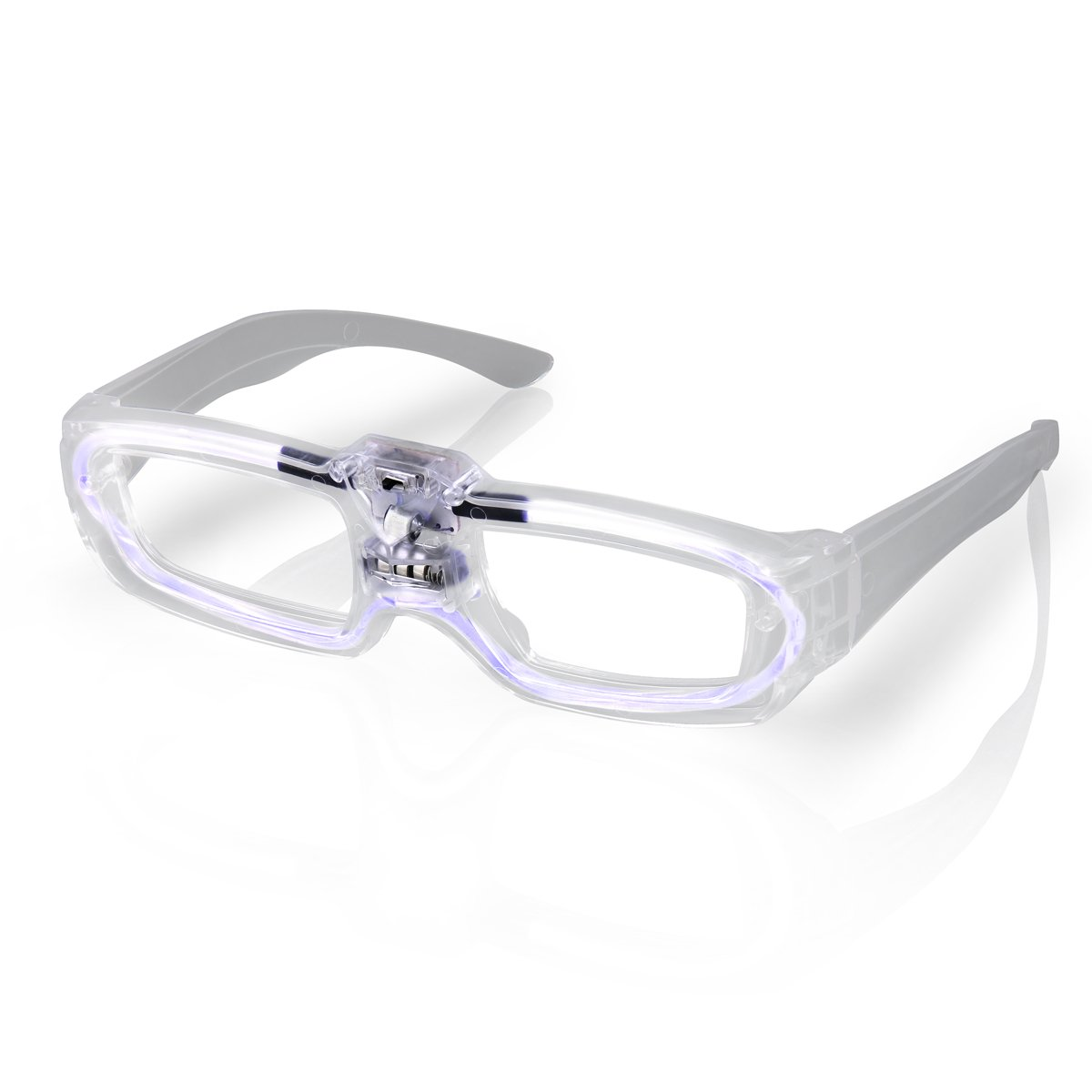 Sound Activated Glasses White All Products