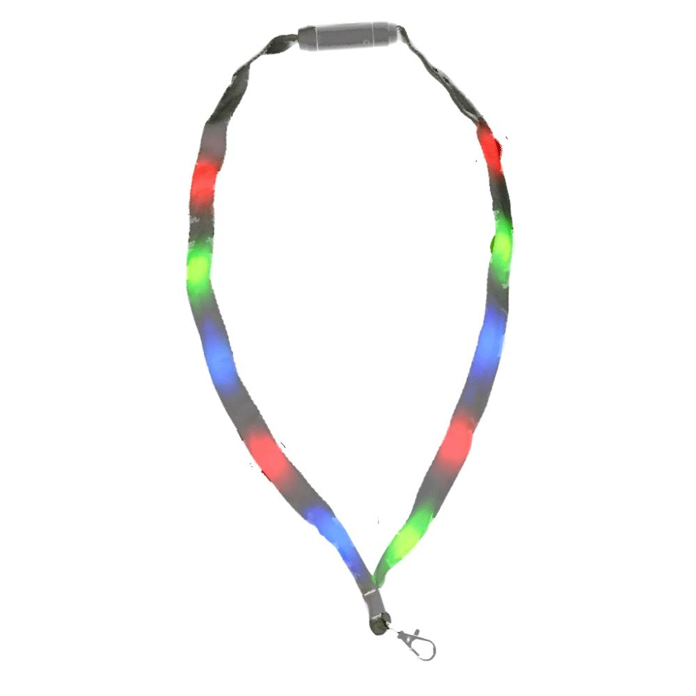 Lightup Lanyard with Badge Clip Multicolor LED All Products