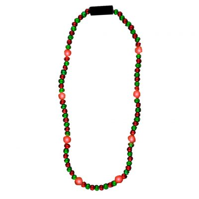 LED Bead Necklace Red and Green All Products