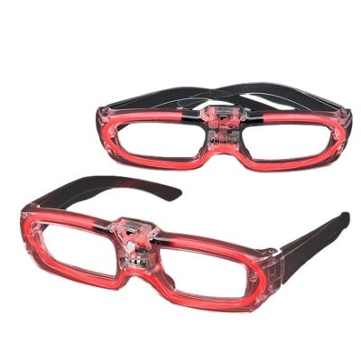 Sound Activated Glasses Red Red