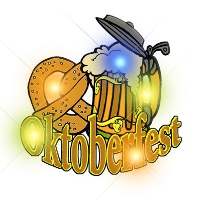 Octoberfest Flashing Body Light Lapel Pins All Body Lights and Blinkees