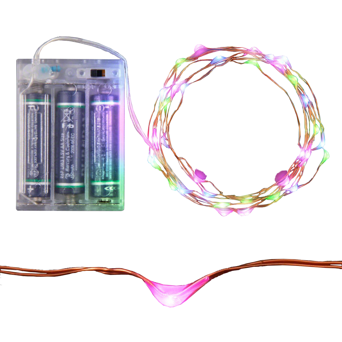 LED Wire String Lights Pink Blue and Green All Products