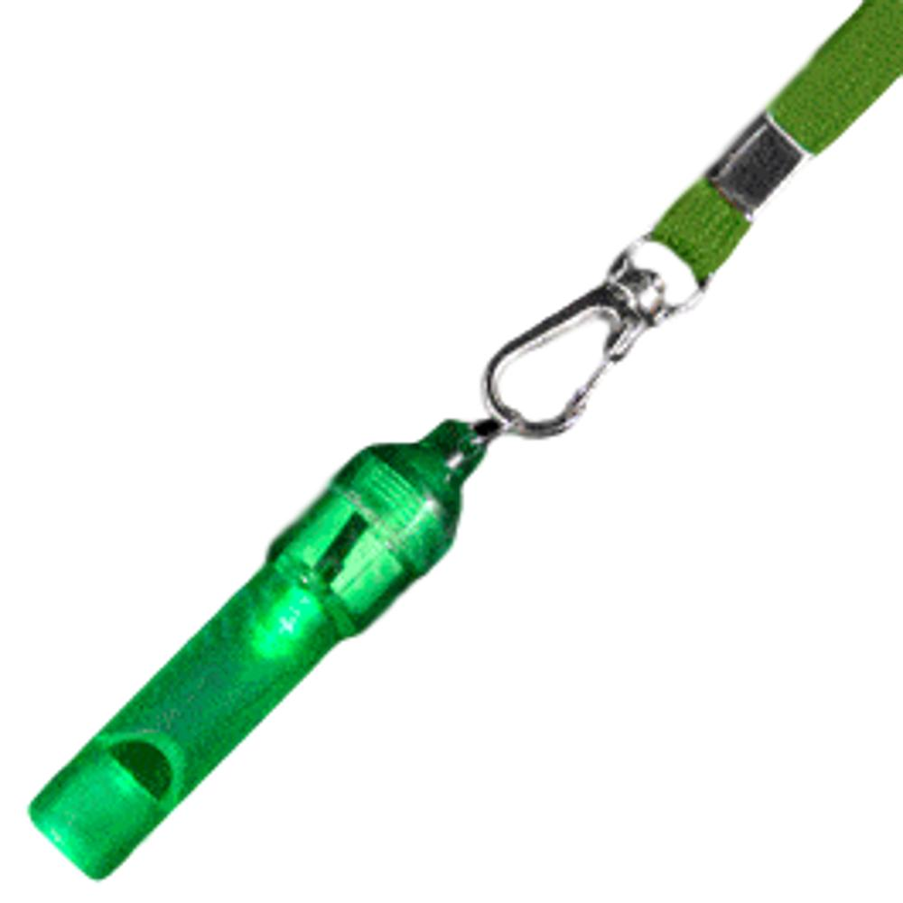Green Flashing Whistle with Green Lanyard All Products