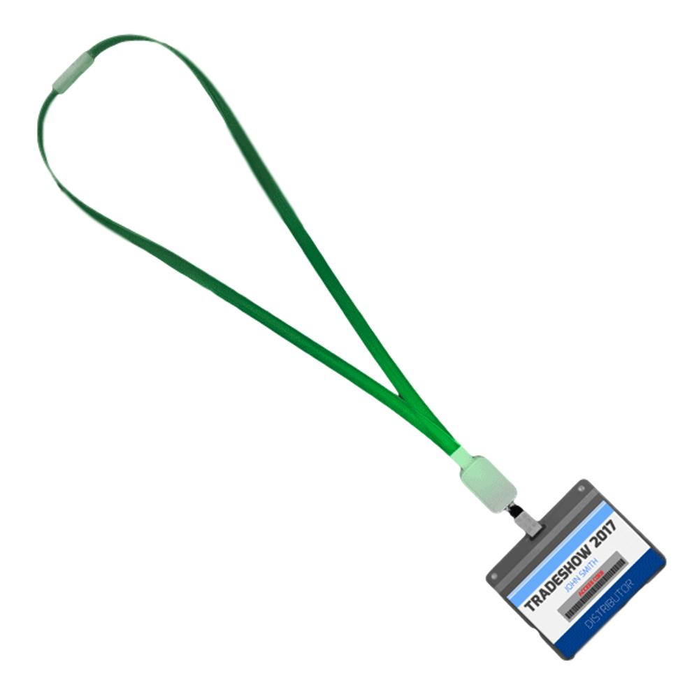 Lightup Lanyard with Badge Clip Green LED All Products