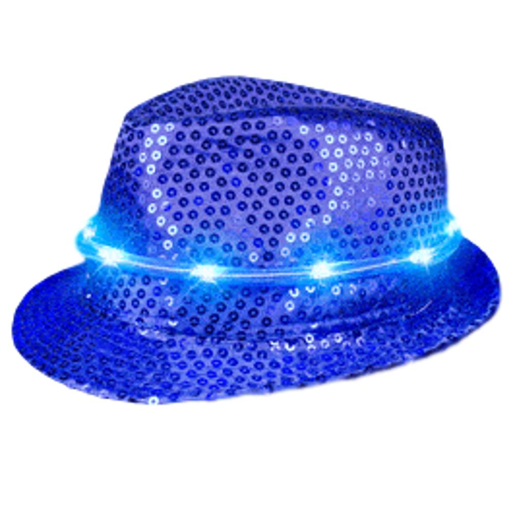 LED Fancy Fedora Blue All Products
