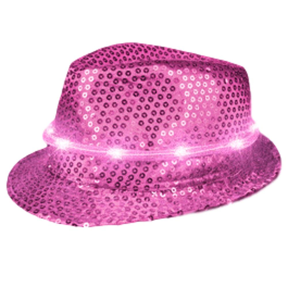 LED Fancy Fedora Pink All Products