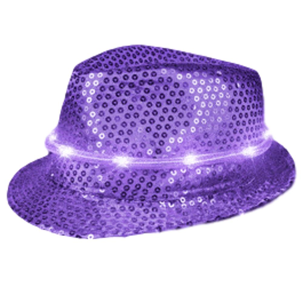 LED Fancy Fedora Purple All Products