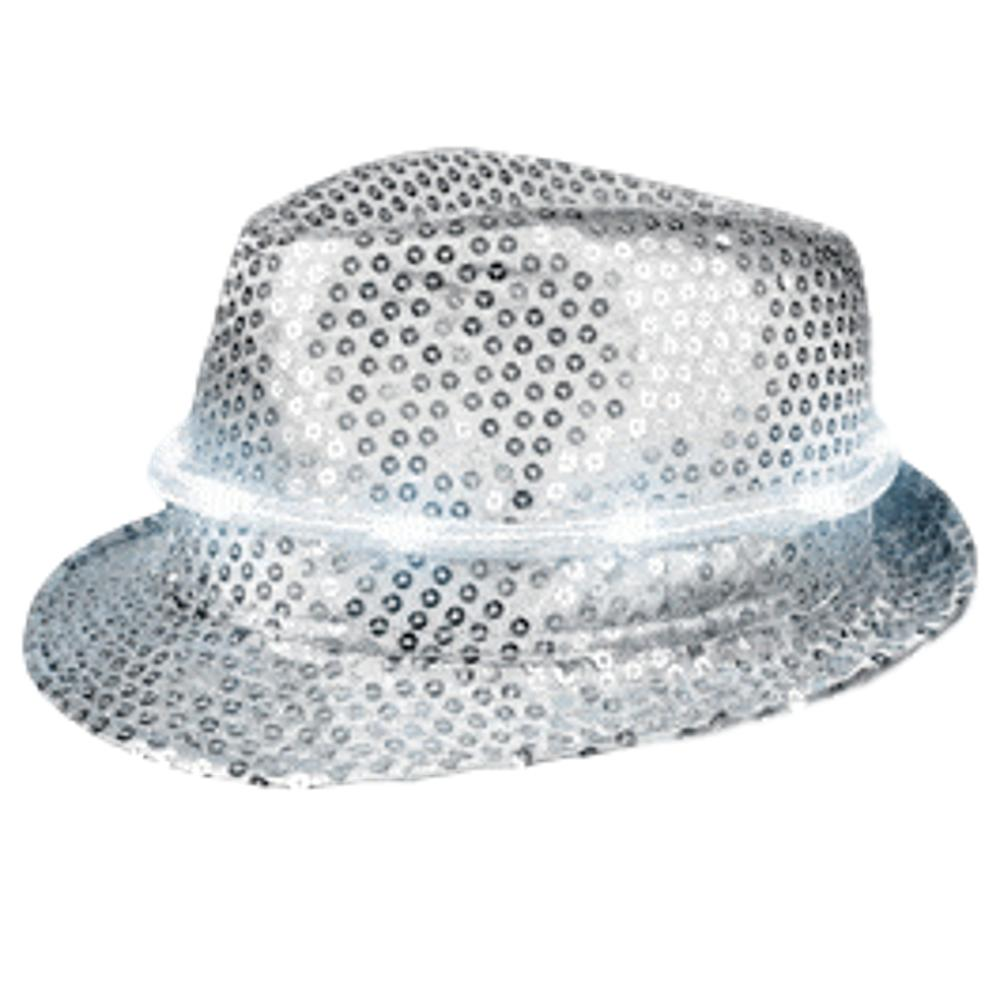 LED Fancy Fedora Silver All Products