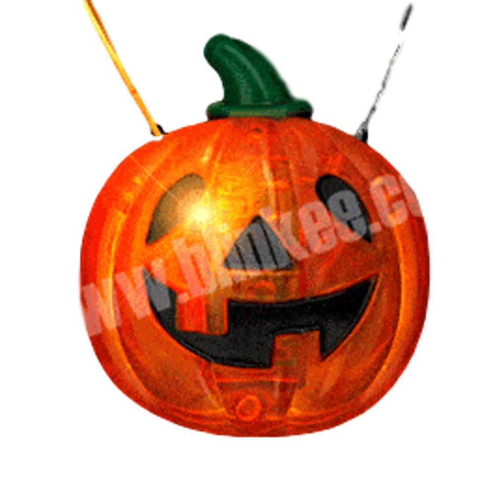 LED Happy Jack O Lantern Pumpkin Necklace All Products