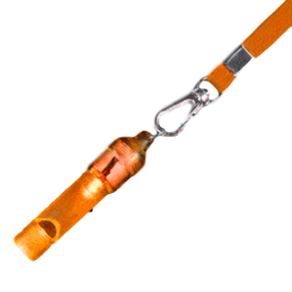 Orange Flashing Whistle with Orange Lanyard All Products