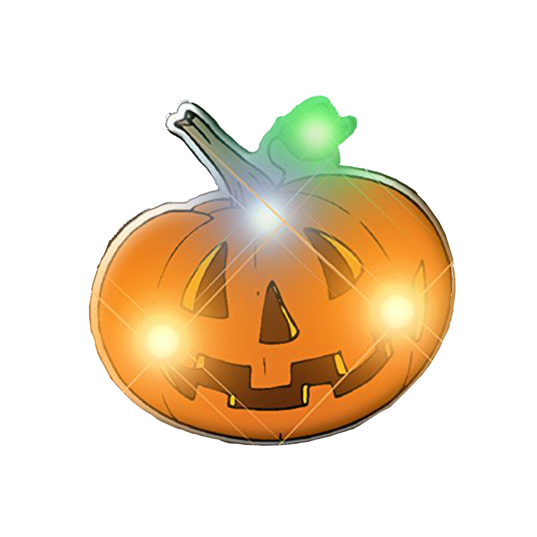 Jack O Lantern Pin All Body Lights and Blinkees
