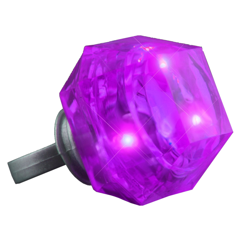 Huge Gem Flashing Rings Purple All Products