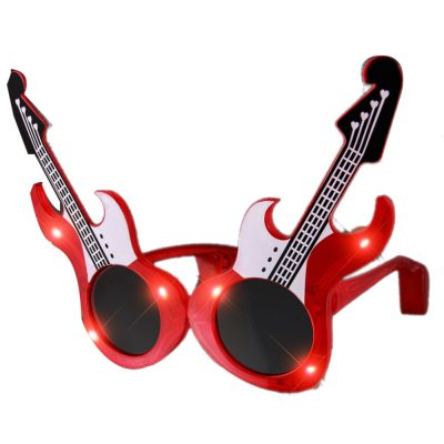 Guitar LED Sunglasses Red All Products