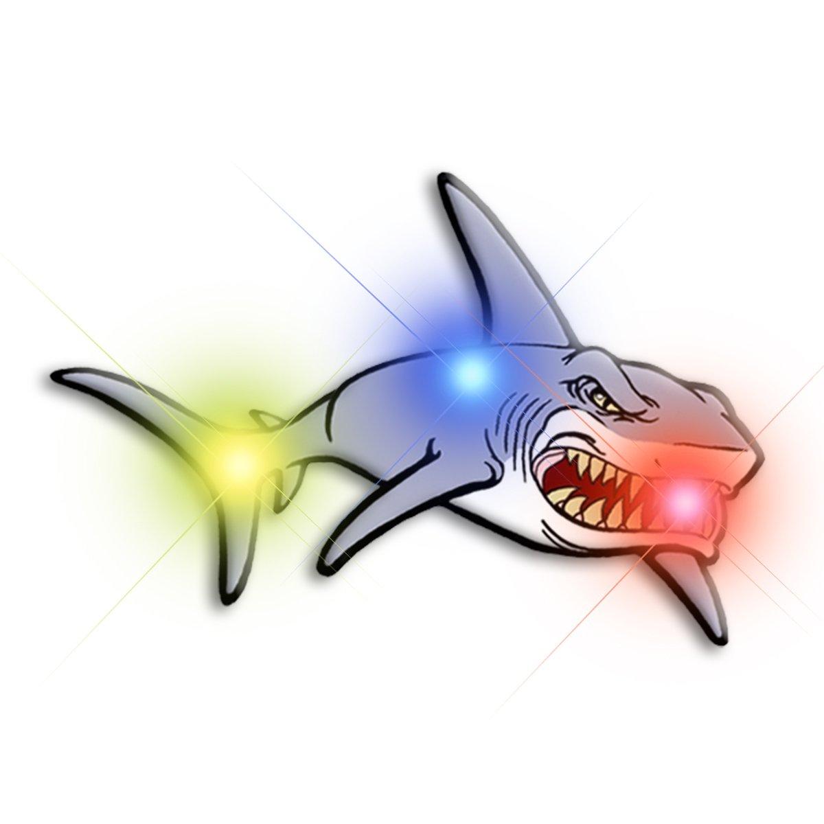 Shark Flashing Body Light Lapel Pins All Body Lights and Blinkees