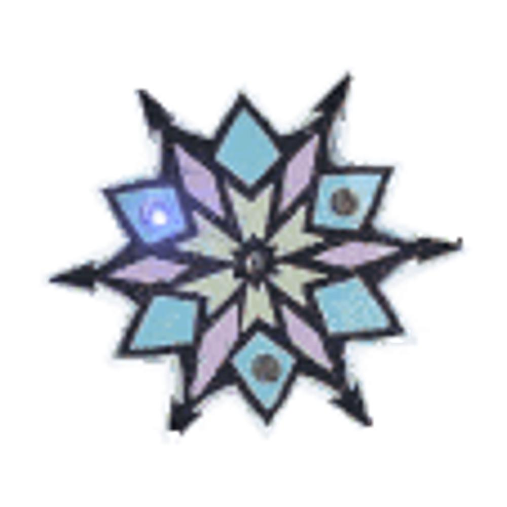 Snowflake Flashing Body Light Lapel Pins All Body Lights and Blinkees