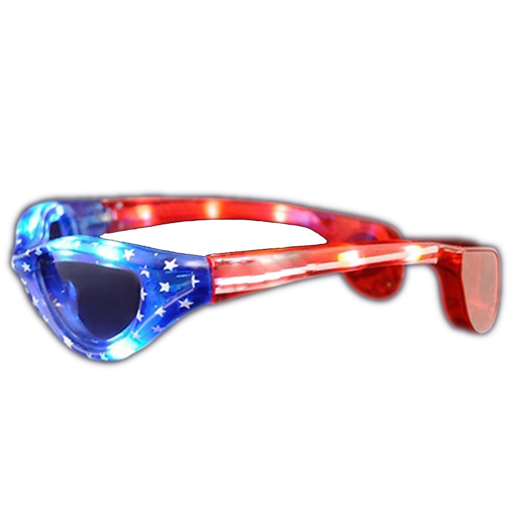USA Stars and Stripes LED Fourth of July Sunglasses 4th of July