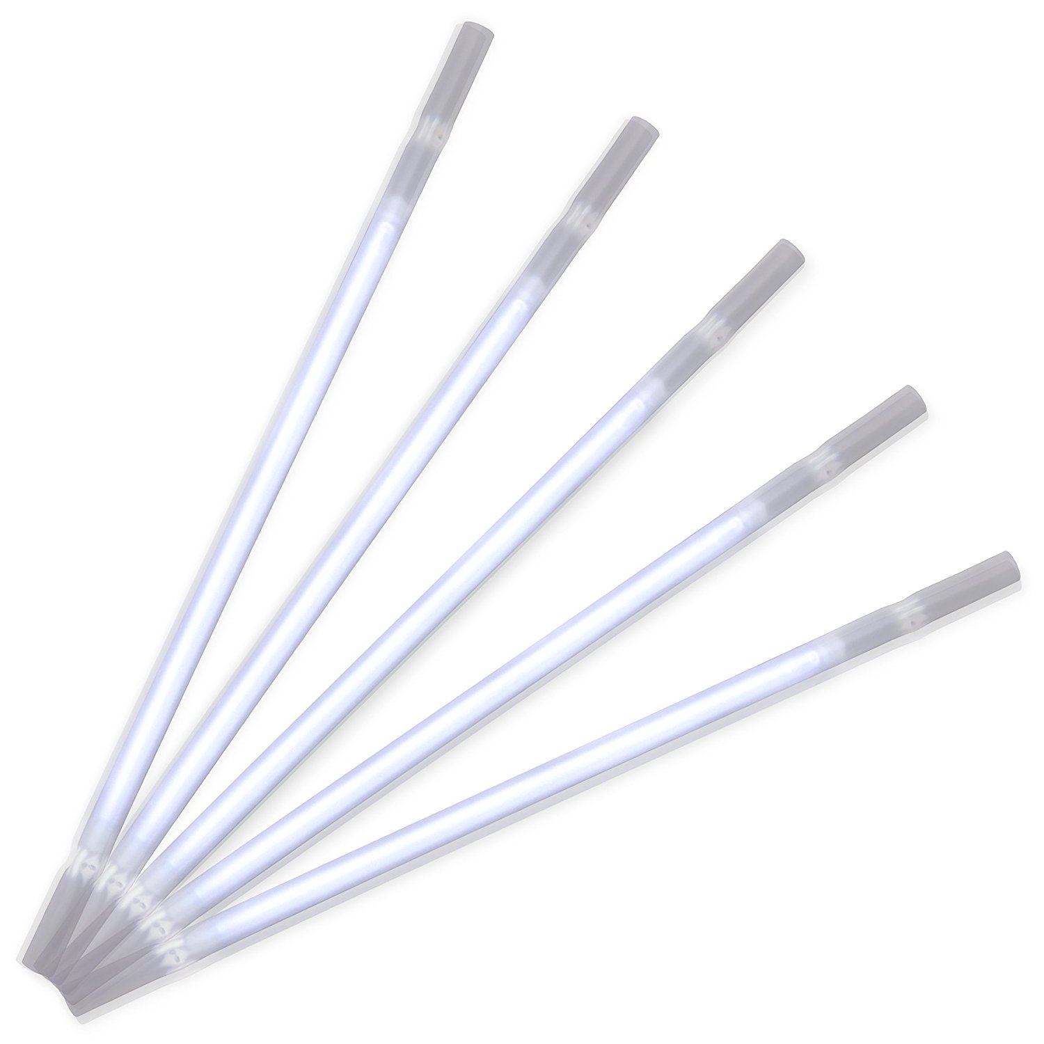 White Glow Drinking Straws Pack of 25 All Products
