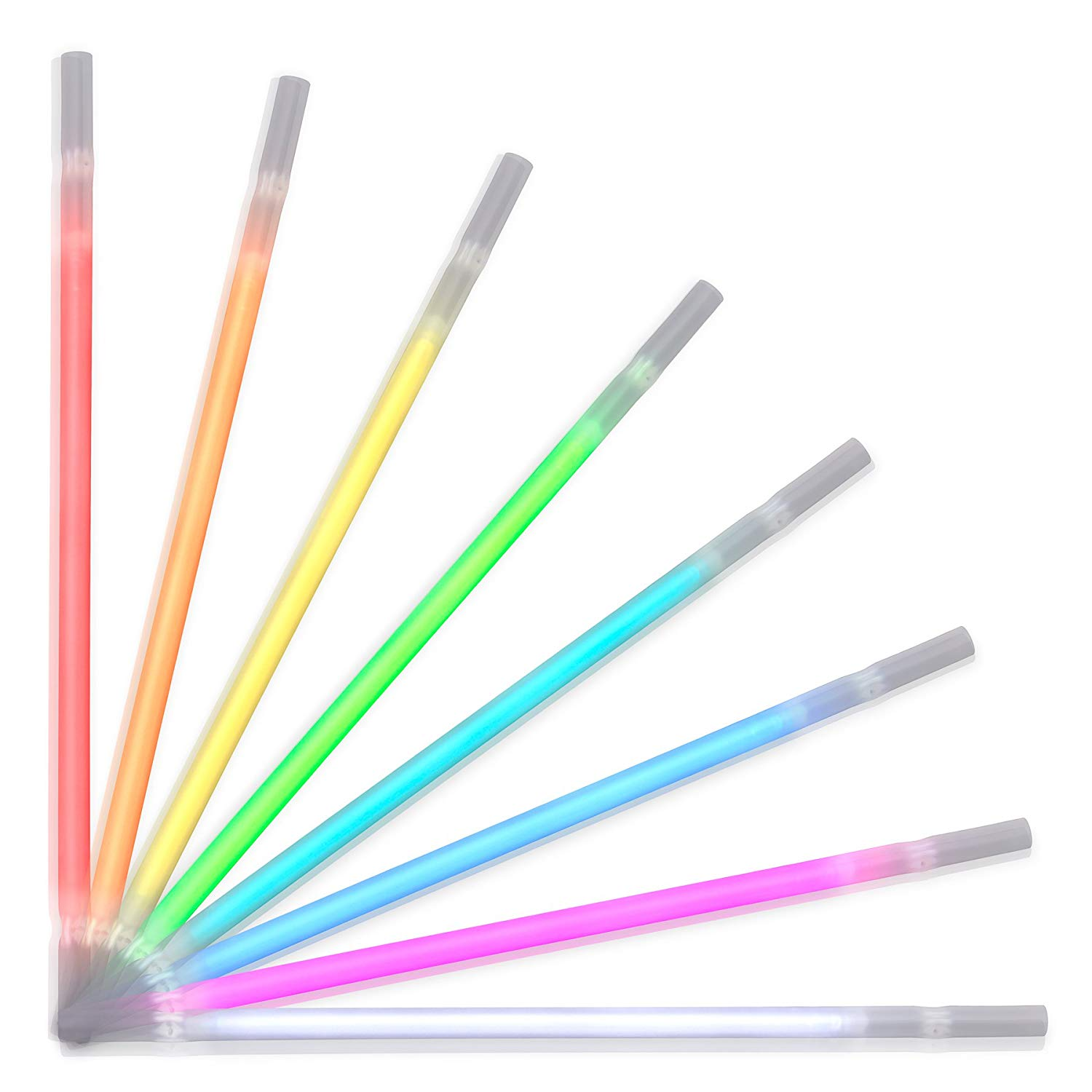 Assorted Color Glow Drinking Straws Pack of 25 All Products