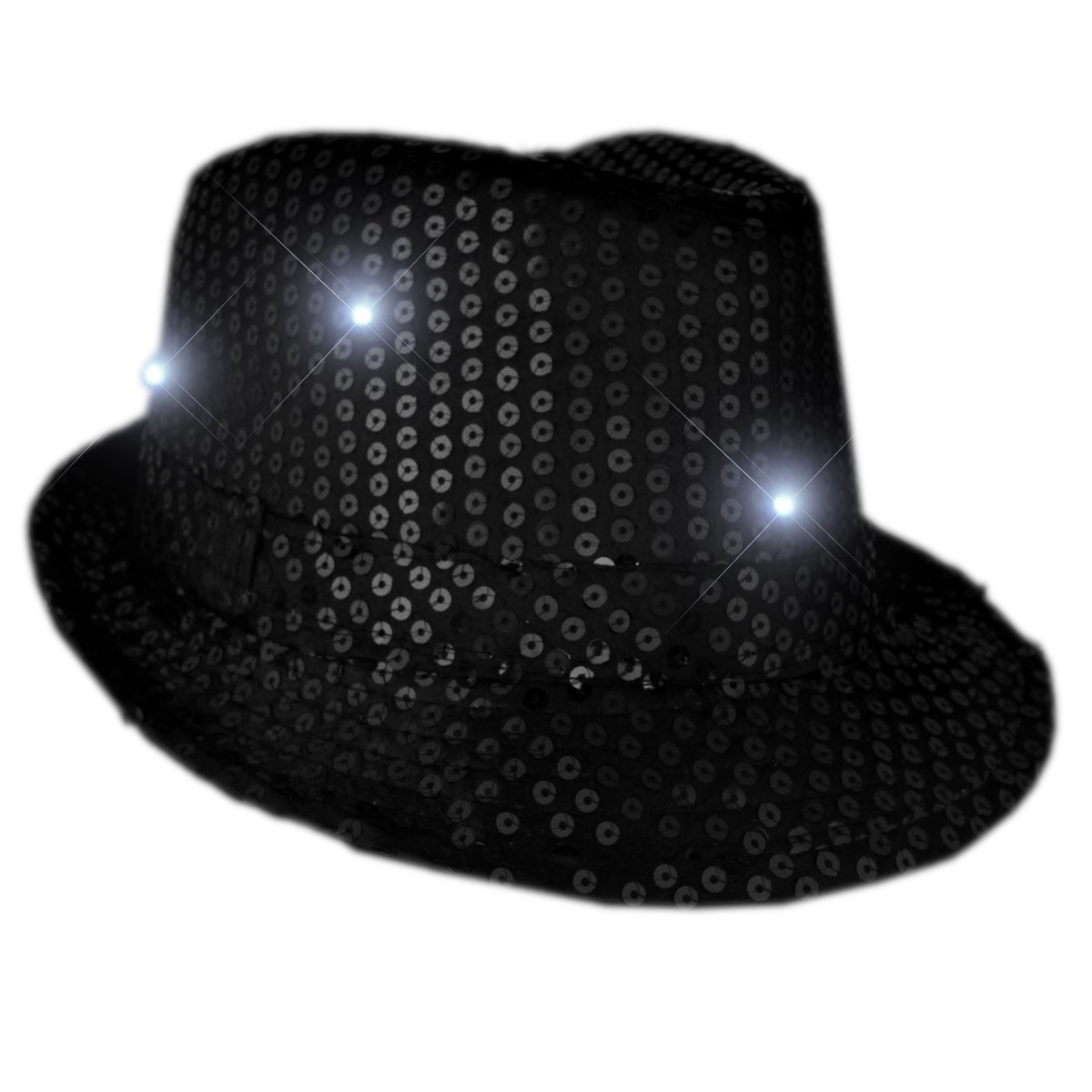 LED Fancy Fedora Black All Products
