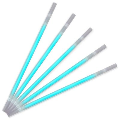 Turquoise Glow Drinking Straws Pack of 25 All Products