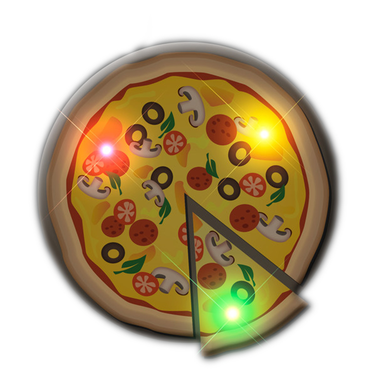 Pizza Flashing Body Light Lapel Pin Party Favors All Body Lights and Blinkees