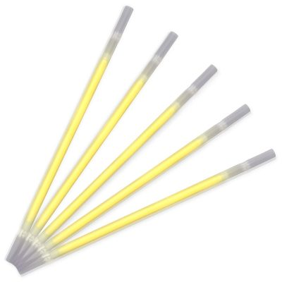 Yellow Glow Drinking Straws Pack of 25 All Products