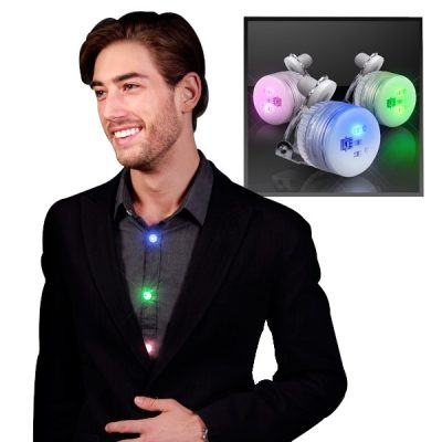 Assorted Color Round LED Blinky Clip On Pins All Body Lights and Blinkees