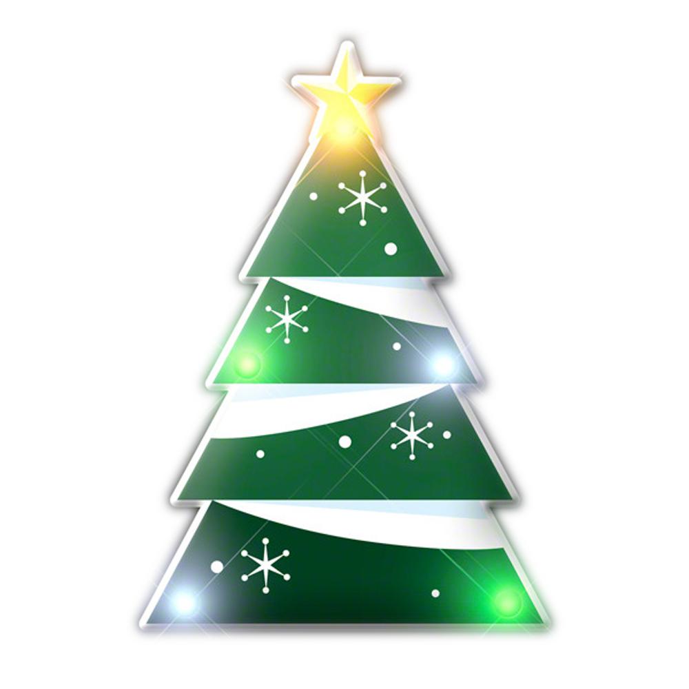 Holiday Christmas Tree Lapel Pin Flashing Blinky Body Light All Body Lights and Blinkees
