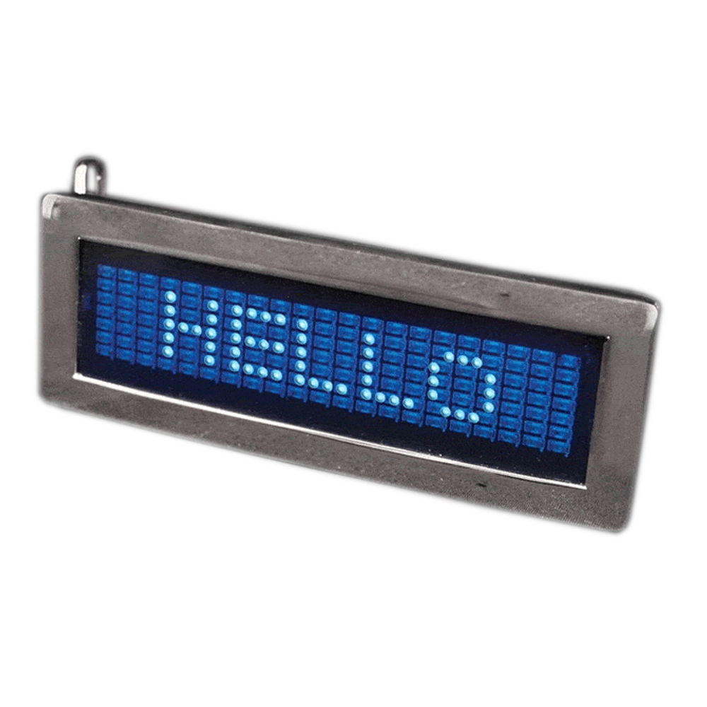 LED Programmable Scrolling Text Belt Buckle All Products