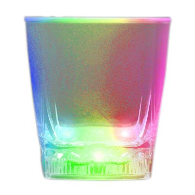 LED Color Changing Rounded Cube Rocks Whiskey Cola Glass All Products