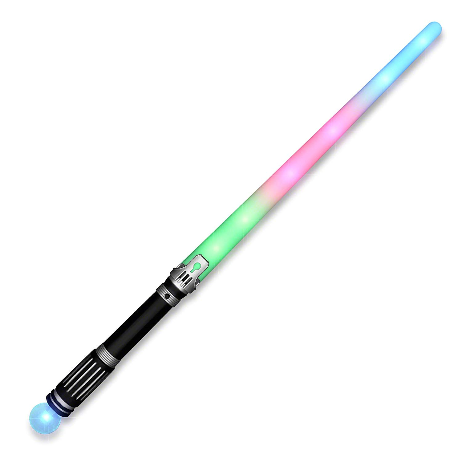 Led Rainbow Saber Sword With Crystal Prism Ball Magic
