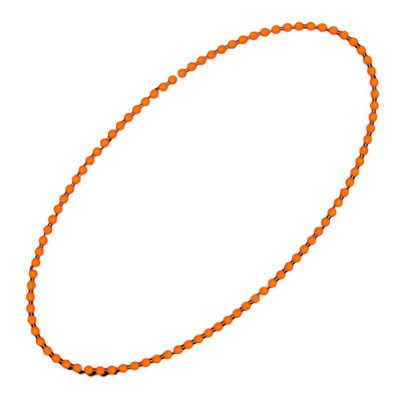 Smooth Round Opaque Bead Mardi Gras Necklace Orange Pack of 12 All Products