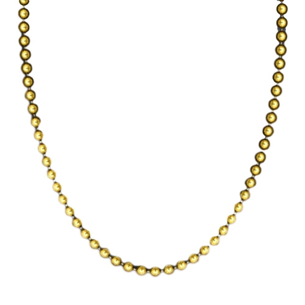 Smooth Round Opaque Bead Mardi Gras Necklace Gold Pack of 12 All Products