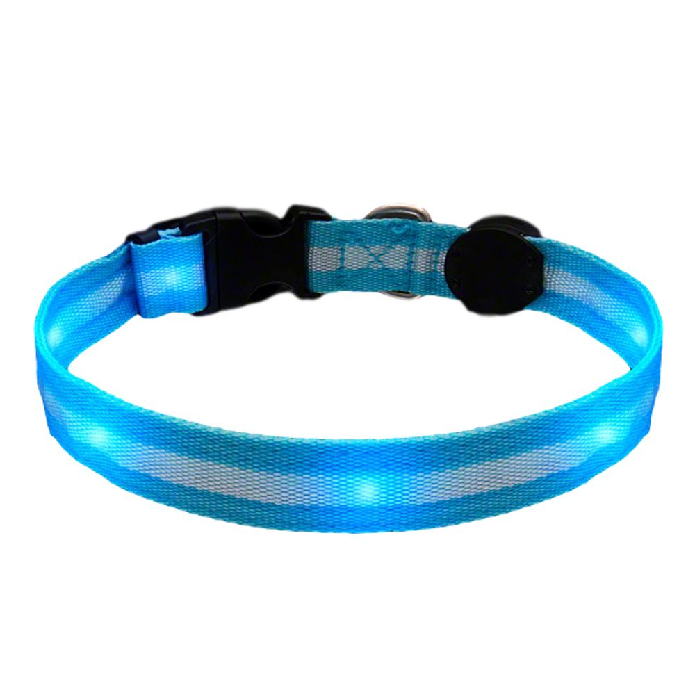 LED Blue Flashing Striped Dog Collar All Products