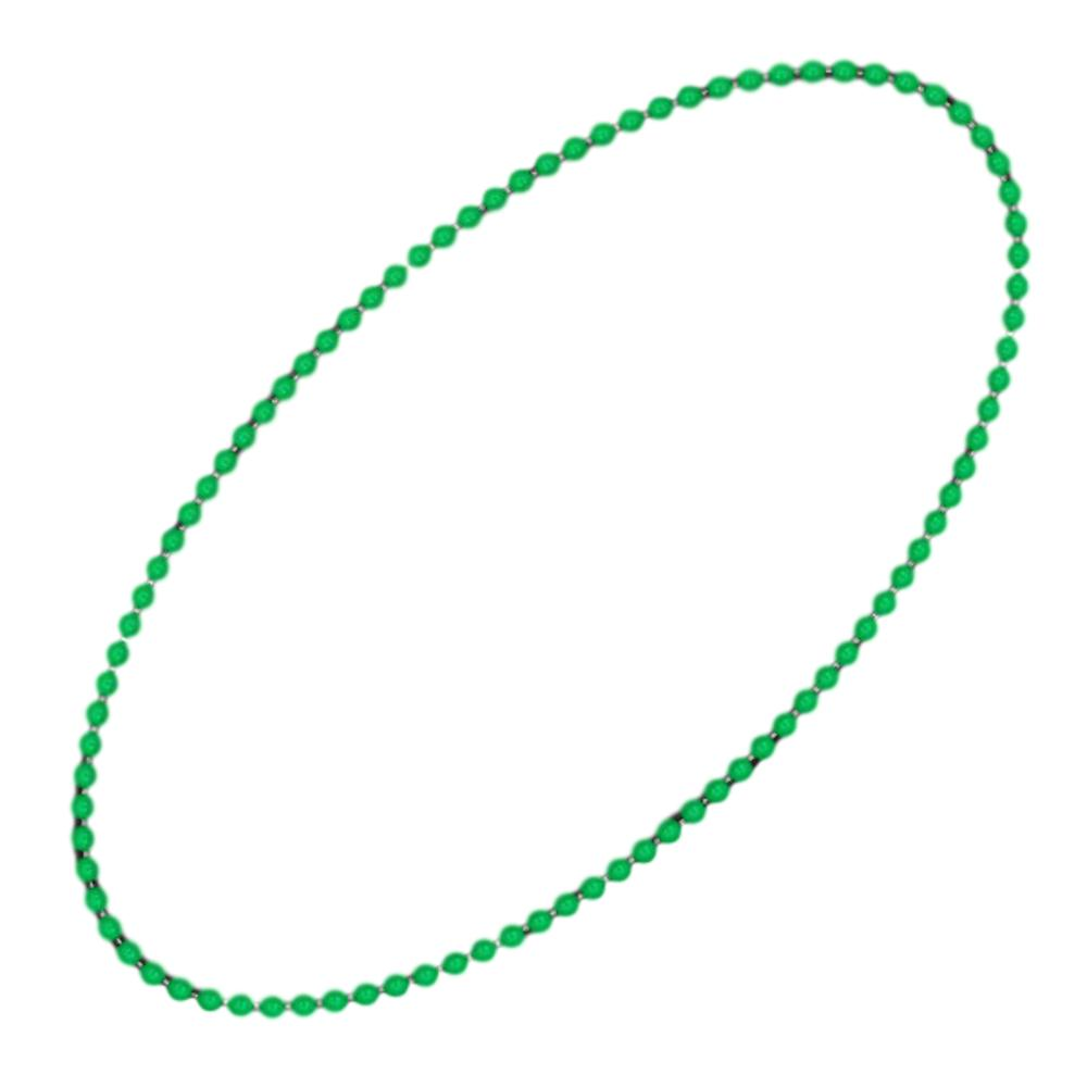 Smooth Round Opaque Bead Mardi Gras Necklace Green Pack of 12 All Products