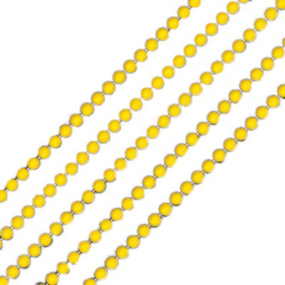 Smooth Round Opaque Bead Mardi Gras Necklace Yellow Pack of 12 All Products